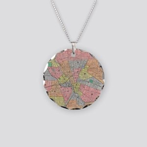 Vintage Map of Rochester NY Necklace Circle Charm