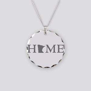 Minnesota Home Necklace Circle Charm