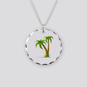 Palm Tree Plant Necklace