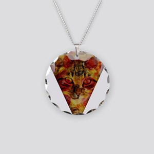 PizzaCat Slice Necklace Circle Charm