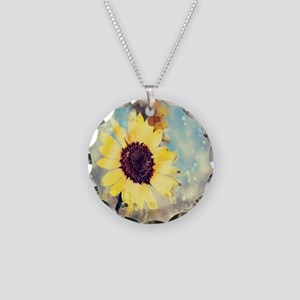 romantic summer watercolor s Necklace Circle Charm
