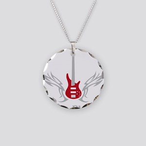 Bass 2 Necklace Circle Charm
