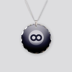 Infinity Eight Ball Necklace Circle Charm