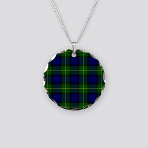 Gordon Scottish Tartan Necklace Circle Charm