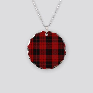 McCleod MacCleod Tartan Plai Necklace Circle Charm