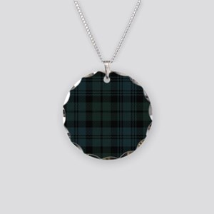 Campbell Scottish Tartan Pla Necklace Circle Charm
