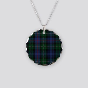 MacKenzie Tartan Shower Curt Necklace Circle Charm