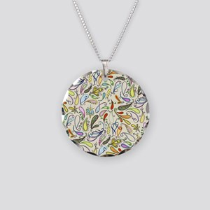 Crazy For Paisley Necklace Circle Charm