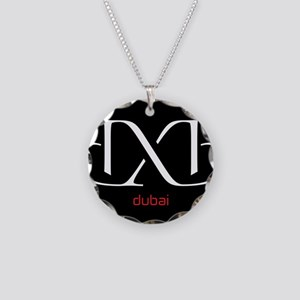 DXB Black Necklace Circle Charm