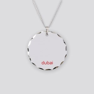 DXB White Necklace Circle Charm