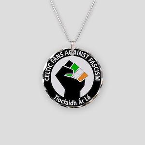 e365b1f6 Celtic Fans Against Fascism Necklace Circle Charm