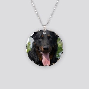 beauceron black and tan Necklace