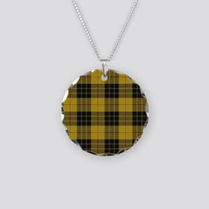 McCleod Tartan Plaid Necklace Circle Charm