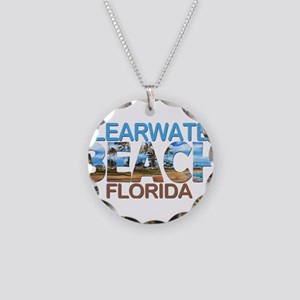 Summer clearwater- florida Necklace Circle Charm