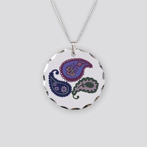 Textured Paisley Necklace