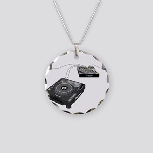 My CDJ Setup Necklace Circle Charm