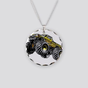 Monter Taxi Truck Necklace Circle Charm
