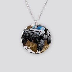 White Muddy Toyota Truck Necklace