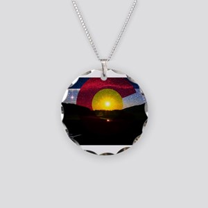 Colorado and the Sun Necklace Circle Charm