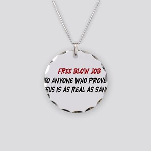 Free Blow Job Necklace Circle Charm