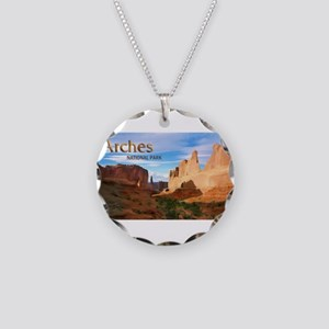 Park Avenue at Arches Nation Necklace Circle Charm