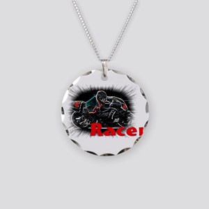 racer Necklace Circle Charm
