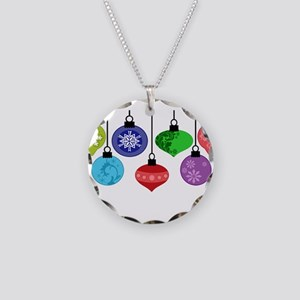 Christmas Ornaments Necklace Circle Charm