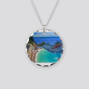 McWay Falls Big Sur Necklace Circle Charm