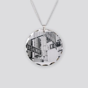 NY Broadway Times Square - Necklace Circle Charm