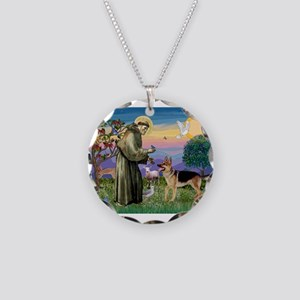 St Francis / G Shep Necklace Circle Charm