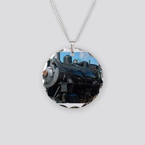 classic train Necklace Circle Charm