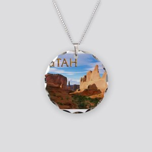 Utah smaller Necklace Circle Charm