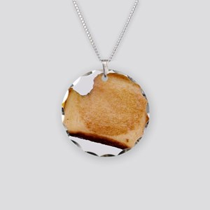 Plain Grilled Cheese Sandwich Necklace Circle Char