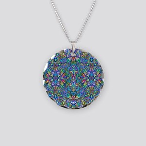 Colorful Abstract Psychedeli Necklace Circle Charm