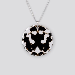 Rorschach Test Necklace Circle Charm