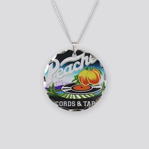 Peaches Records and Tapes lo Necklace Circle Charm
