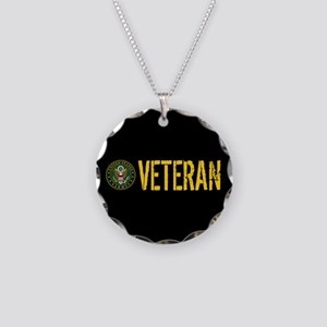 U.S. Army: Veteran Necklace Circle Charm