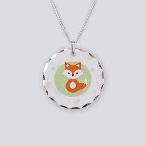 Cute Fox in Circle Necklace