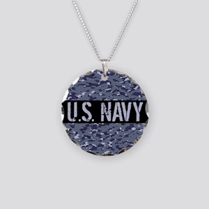 U.S. Navy: Camouflage (NWU I Necklace Circle Charm