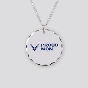 USAF: Proud Mom Necklace Circle Charm