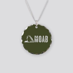 Moab, Utah: Delicate Arch Necklace Circle Charm