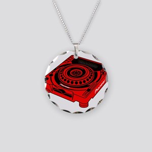CDJ-1000 Swirl Necklace Circle Charm