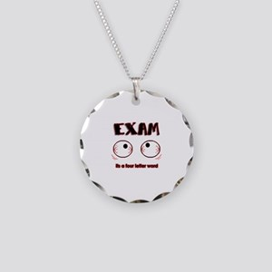 Exam: its a four letter word Necklace Circle Charm
