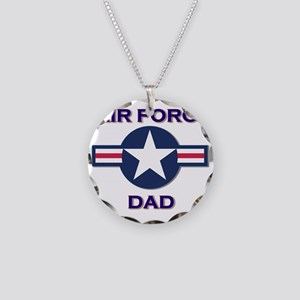 air force dad Necklace Circle Charm