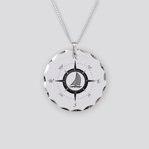 Sailboat and Compass Rose Necklace
