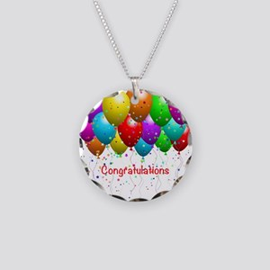 Congratulations Balloons Necklace