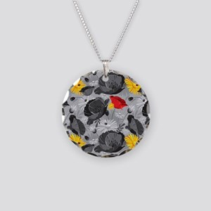 Poppies and Daisies Spot Color Necklace