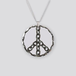peace chain Necklace Circle Charm