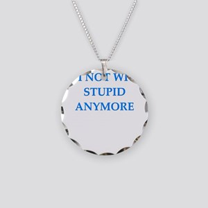 a unny diorce joke Necklace Circle Charm