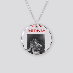 u.s.s.midway Necklace Circle Charm